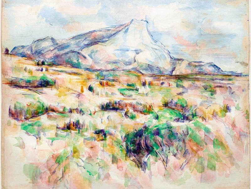 Mont Saint Victoire By Cezanne Paul