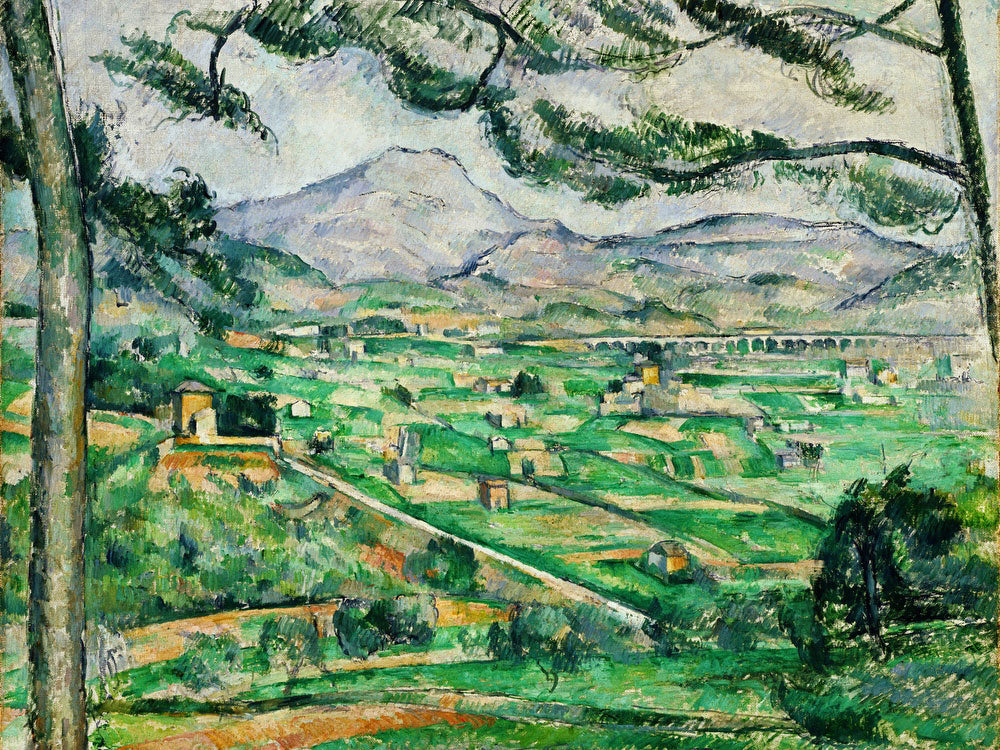 Mont Sainte Victoire 1 By Paul Cezanne