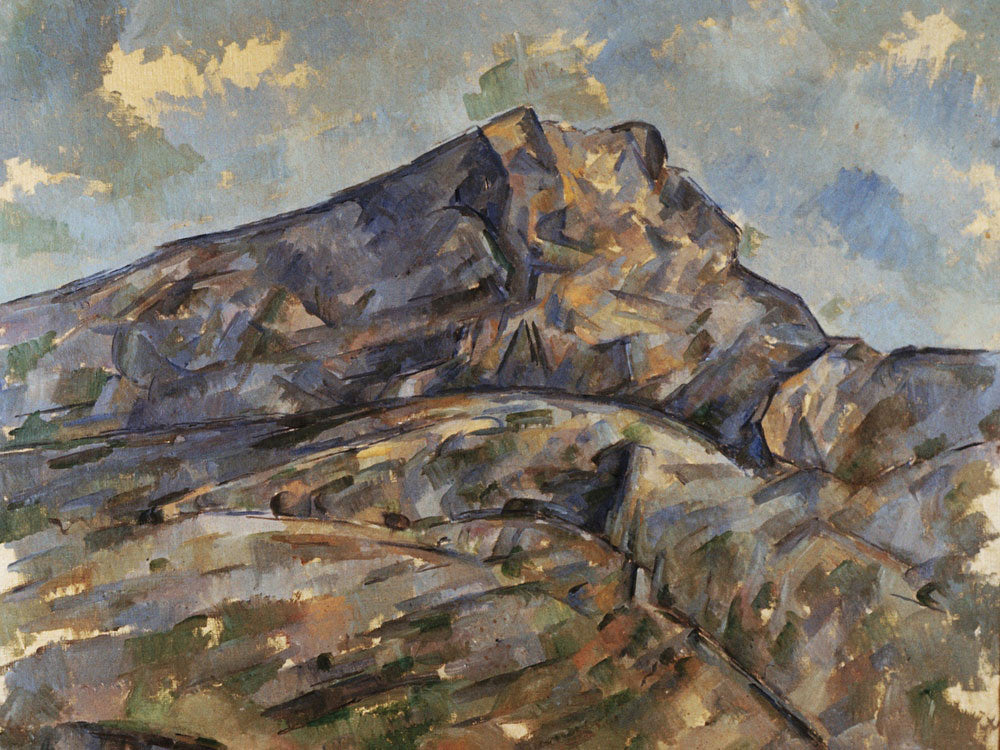Mont Sainte Victoire 5 By Paul Cezanne