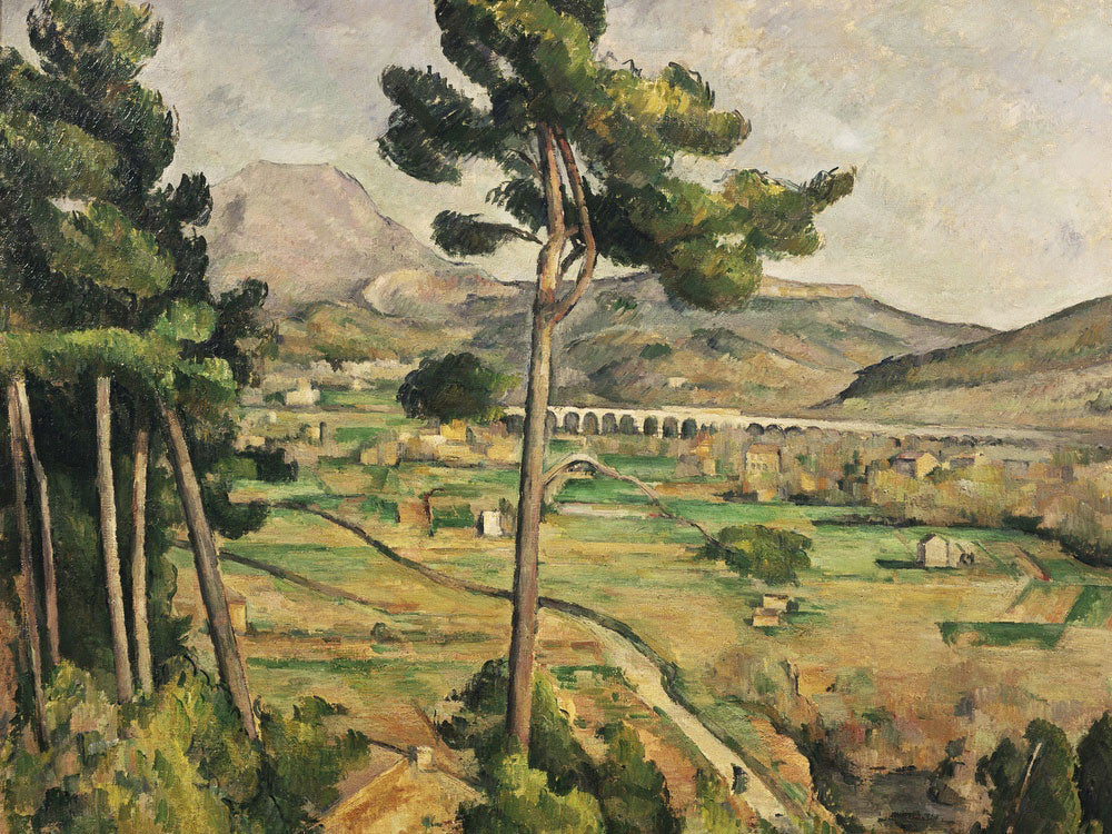 Mont Sainte Victoire And The Viaduct Of The Arc River Valley By Paul Cezanne