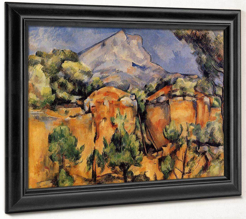 Mont Sainte Victoire Seen From The Bibemus Quarry C 1897 By Baltimore Museum Of Art Date Circa 1897 By Paul Cezanne