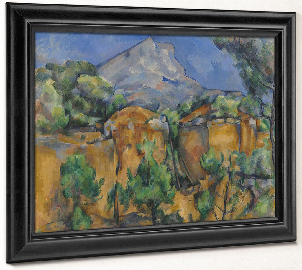 Mont Sainte Victoire Seen From The Bibemus Quarry By Paul Cezanne