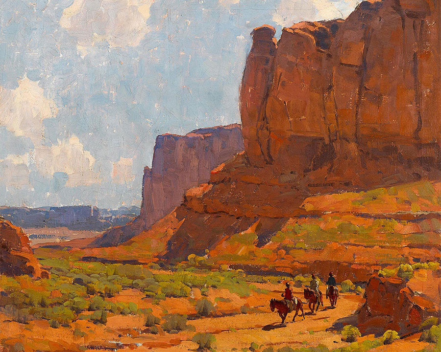 Monument Valley, Riverbed By Edgar Payne