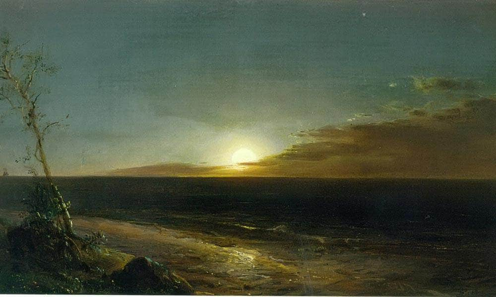 Moonrise (The Rising Moon) By Frederic Edwin Church