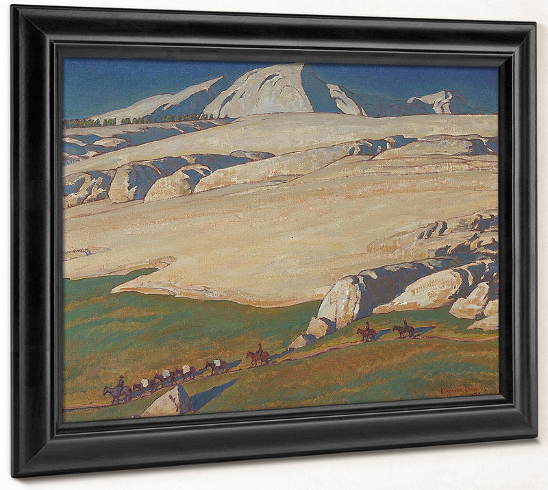 Moraine And Meadow Sierra Nevada Inyo County California 1924 By Maynard Dixon