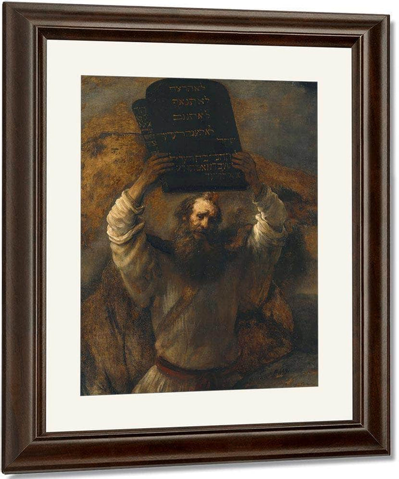 Moses With The Ten Commandments By Rembrandt
