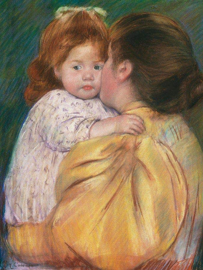 Mother And Child (Maternal Kiss) By Cassatt Mary