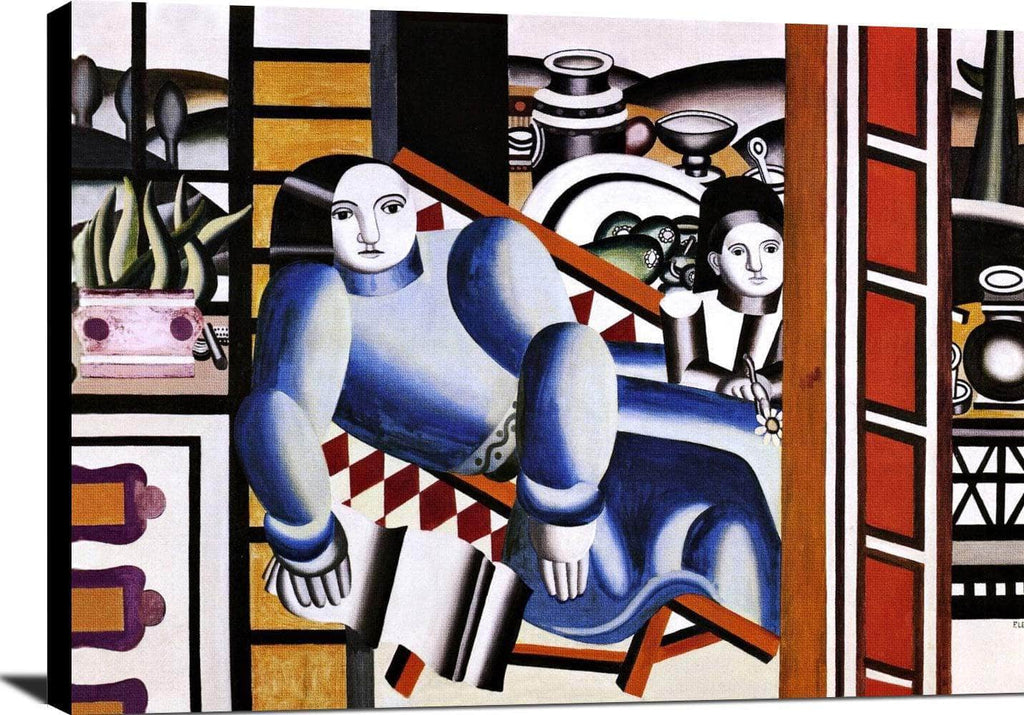 Mother And Child Painting Fernand Leger Canvas Art
