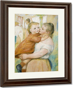 Mother And Child By Pierre August Renoir
