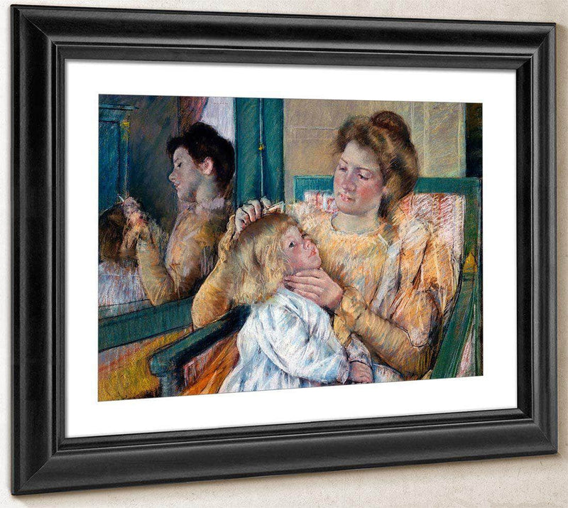 Mother Combing Her Childs Hair (La Toilette) By Cassatt Mary