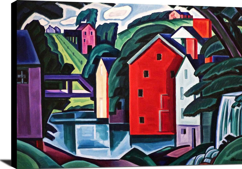 Motive In Space And Form Painting Oscar Bluemner Canvas Art