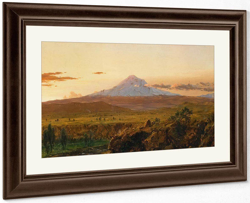 Mount Chimborazo At Sunset By Frederic Edwin Church