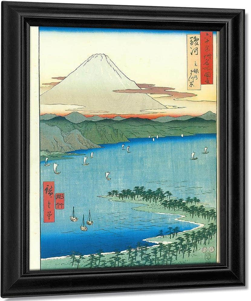 Mount Fuji Seen Across A Bay By Hiroshige