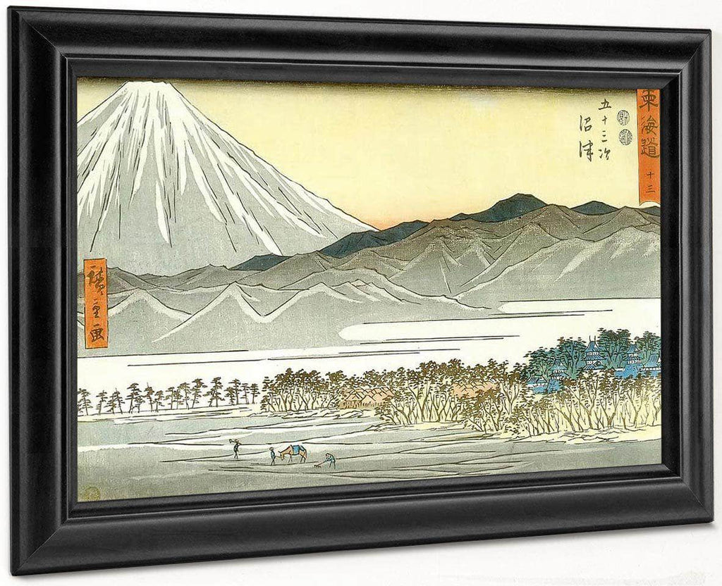 Mount Fuji Seen Across A Plain By Hiroshige