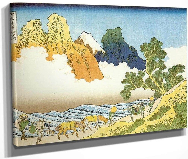Mount Fuji Seen From The Banks Of Minobu River By Hokusai