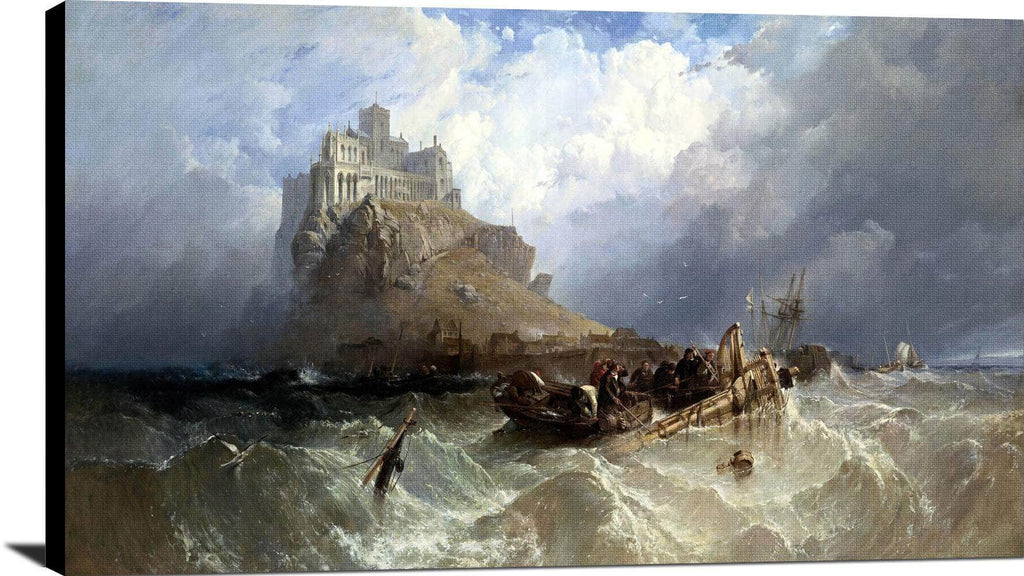 Mount St Michael, Cornwall Painting Clarkson Stanfield Canvas Art