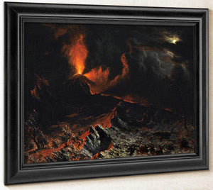 Mount Vesuvius At Midnight By Albert Bierstadt
