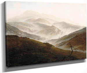 Mountain With Ascending Mist 1820 By Caspar David Friedrich