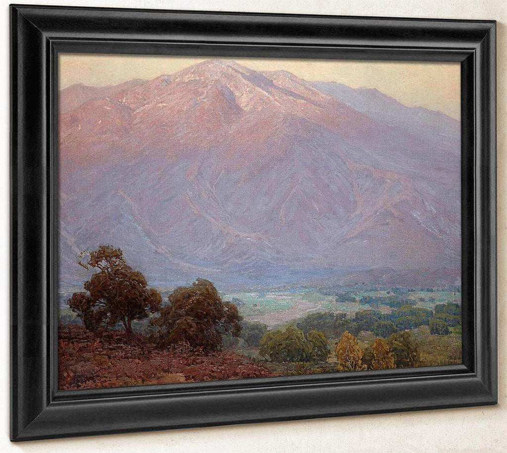 Mountains At Sunset, Santa Barbara By Edgar Payne