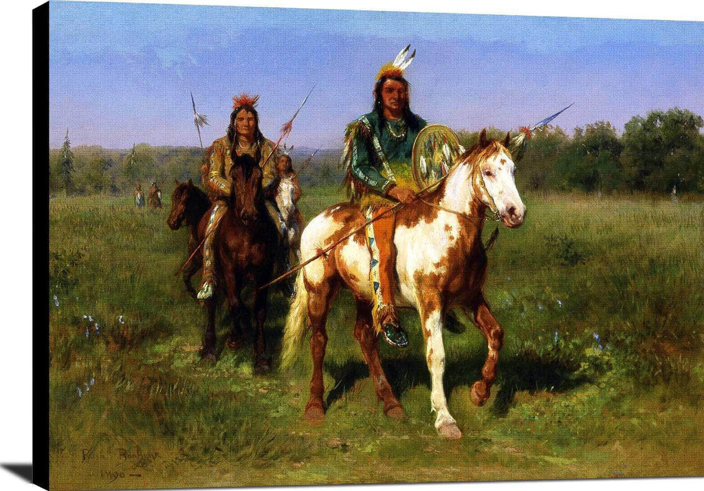 Mounted Indians Carrying Spears Painting Rosa Bonheur Canvas Art