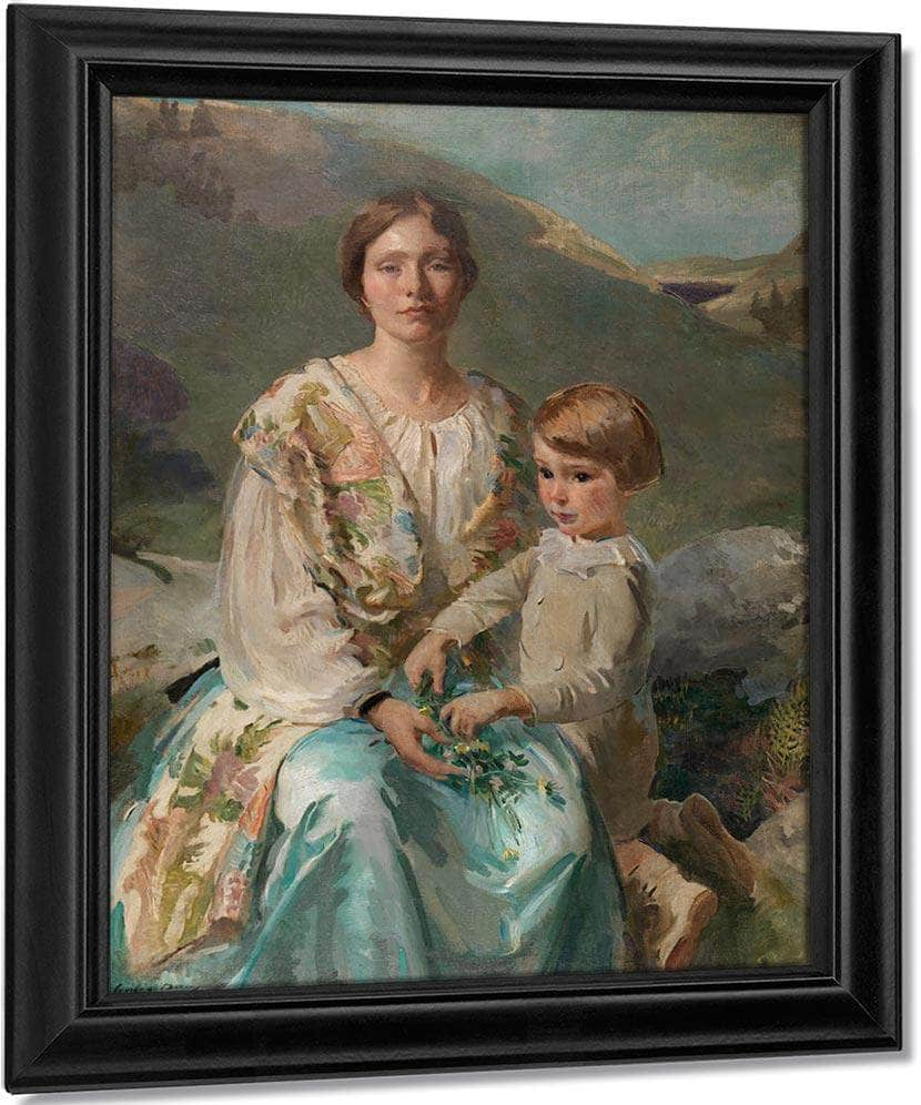 Mrs James Blathwaite Drinker And Her Son 1922 By Cecilia Beaux