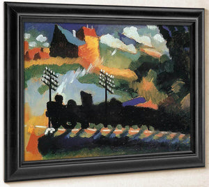 Murnau View With Railway And Castle By Wassily Kandinsky