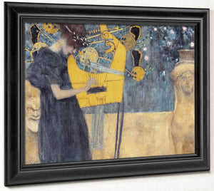 Music 1 1895 Allegory Neue Pinakothek By Gustav Klimt
