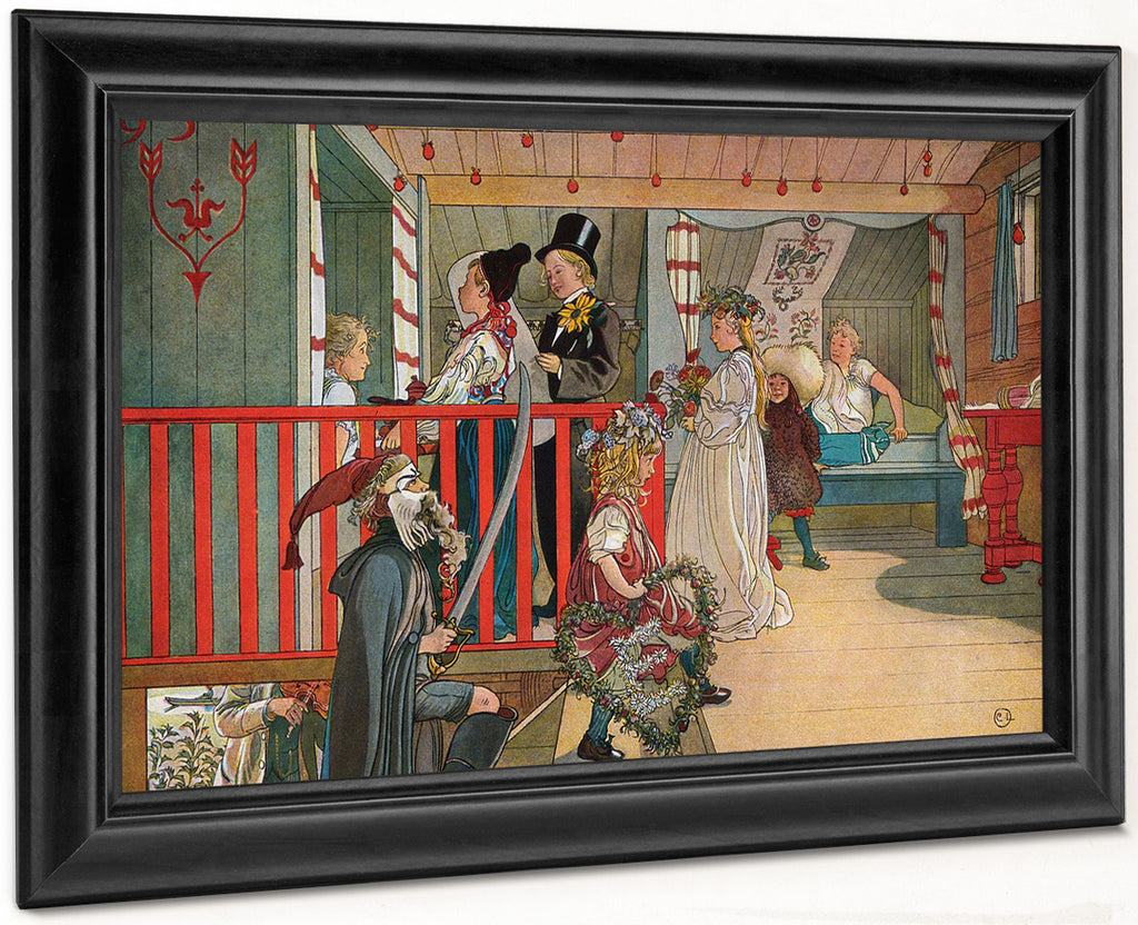 Nameday At The Storage House By Carl Larsson