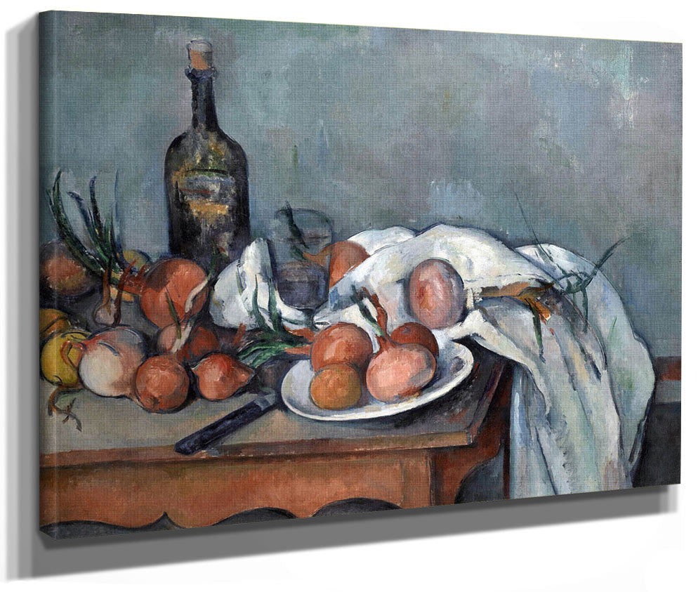 Nature Morte Aux Oignons (Still Life With Onions) By Paul Cezanne