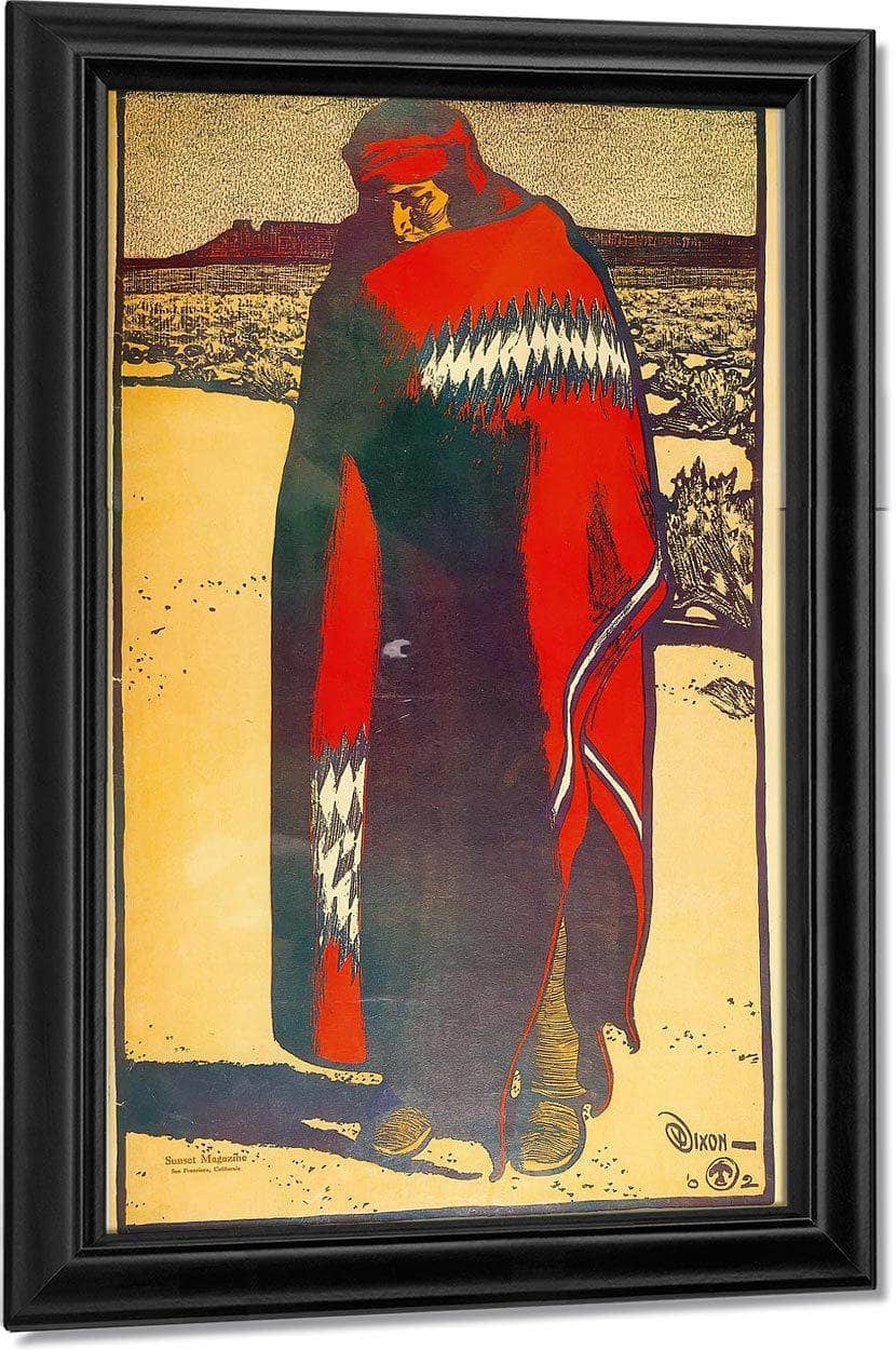 Navajo Indian From Life By Maynard Dixon