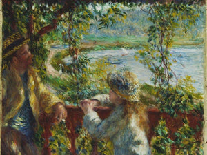 Near The Lake By Pierre August Renoir
