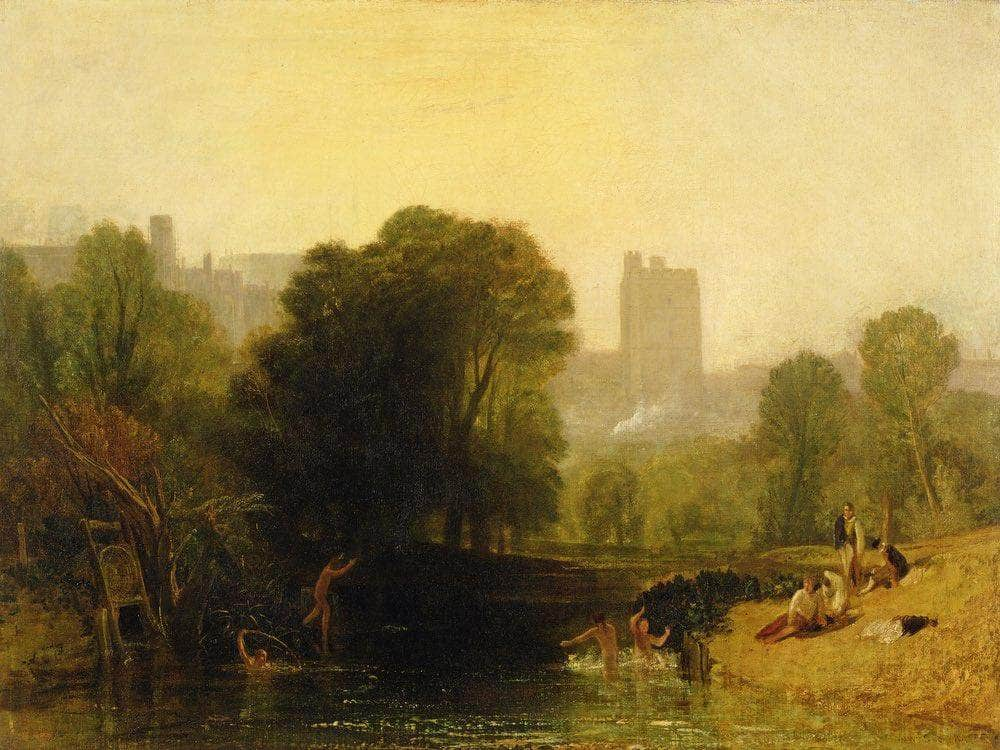 Near The Thames Lock Windsor By Joseph Mallord William Turner