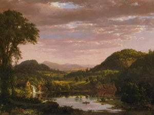 New England Landscape (Evening After A Storm) By Fredric Edwin Church