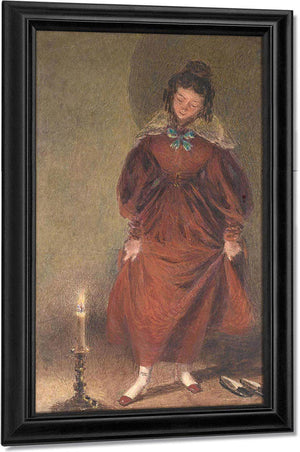 New Red Shoes, The Artist's Wife By William Henry Walker