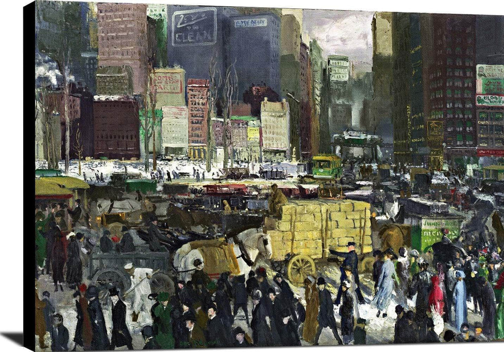 New York Painting George Wesley Bellows Canvas Art