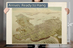 Newport Ri 1878 Vintage Map