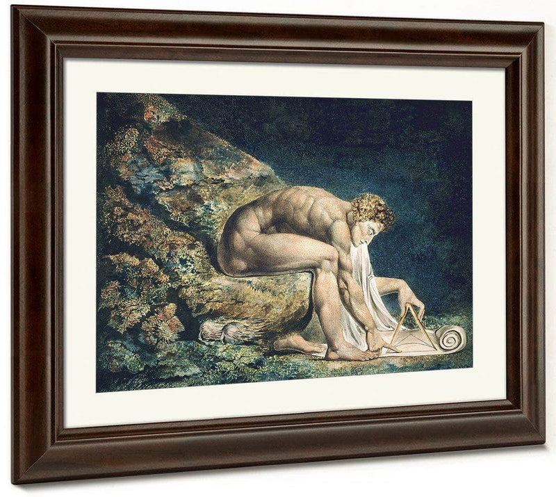 Newton 1795 Color Print And Watercolor 46X60Cm Tate Uk By William Blake