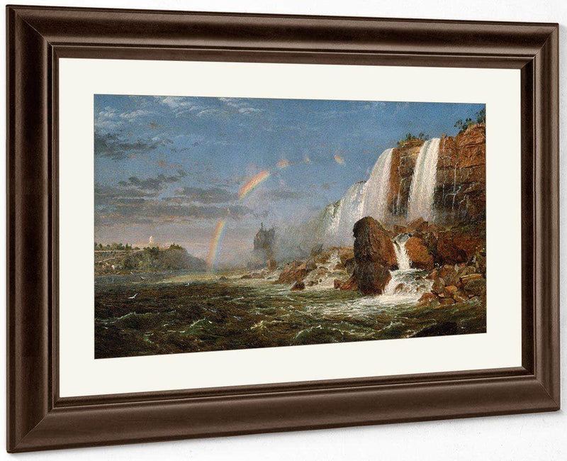 Niagara Falls From The Foot Of Goat Island By Cropsey Jasper Francis