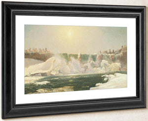 Niagara Falls In Winter By Cropsey Jasper Francis