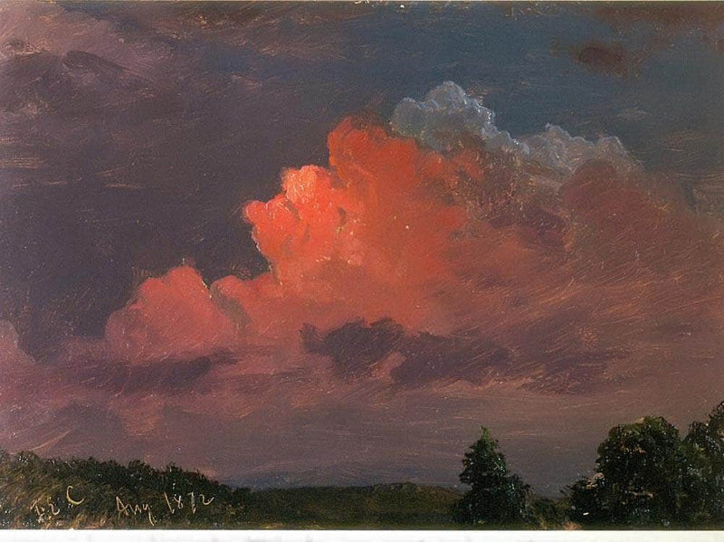 Nightfall Near Olana Hudson Ny By Frederic Edwin Church