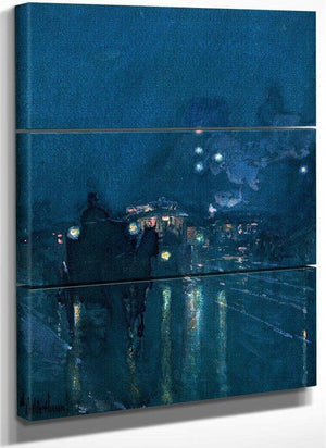 Nocturne Railway Crossing Chicago By Childe Hassam