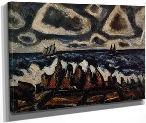 Northern Seascape Off The Banks By Marsden Hartley