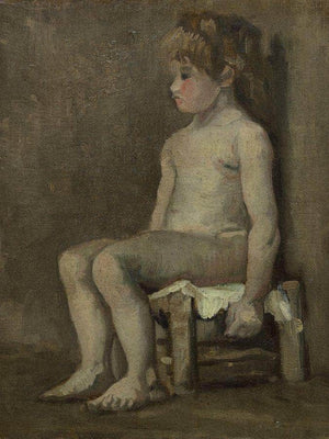 Nude Girl Seated By Vincent Van Gogh