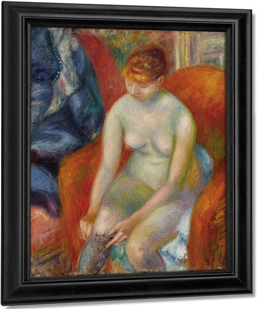 Nude Pulling On Stocking Nude With Red Hair Circa 1925 By Everett Shinn
