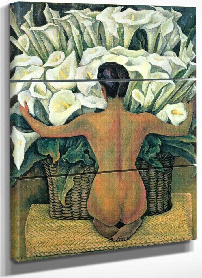 Nude With Calla Lilies By Diego Rivera