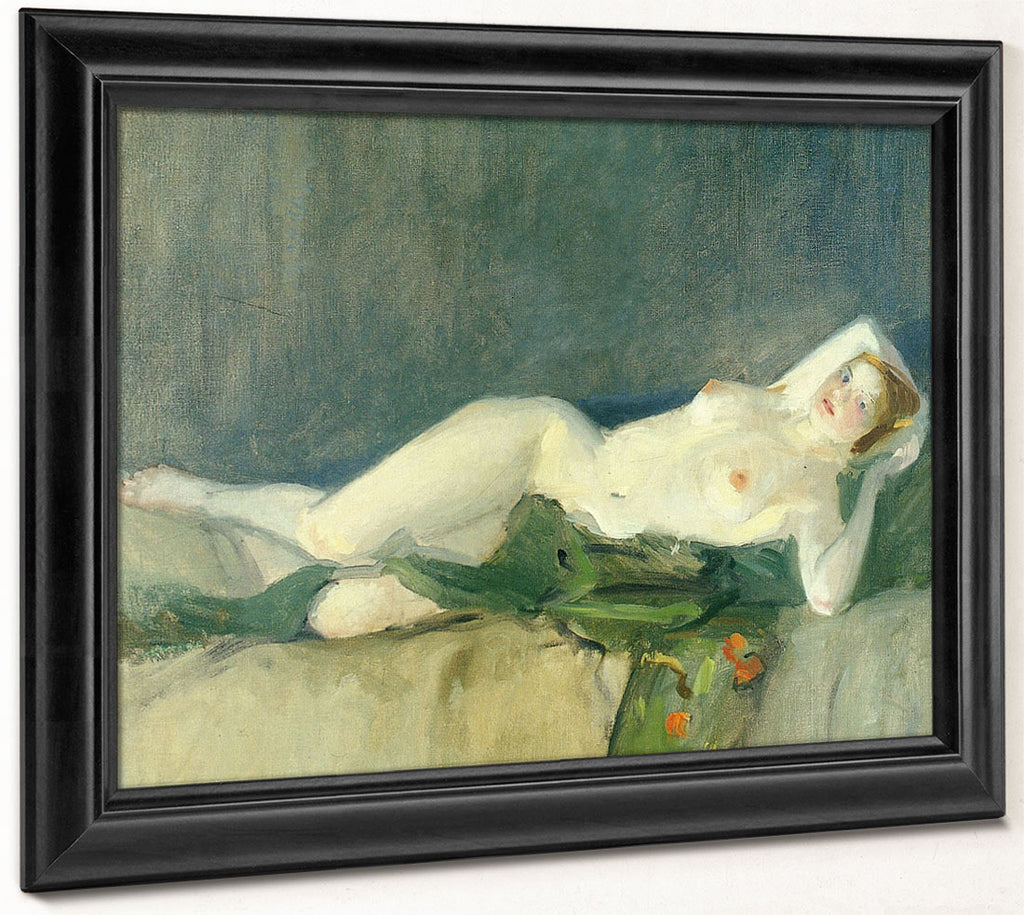 Nude With Green Scarf 1913 By John Sloan