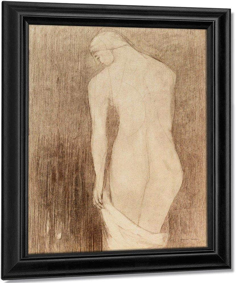 Nude Woman Seen From Behind By Odilon Redon