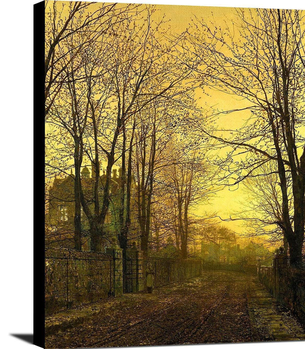 October Afterglow Painting John Atkinson Grimshaw Canvas Art