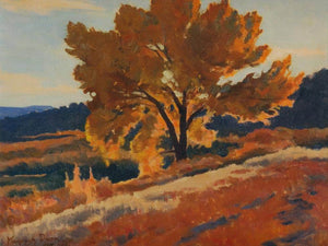 October Leafage By Maynard Dixon
