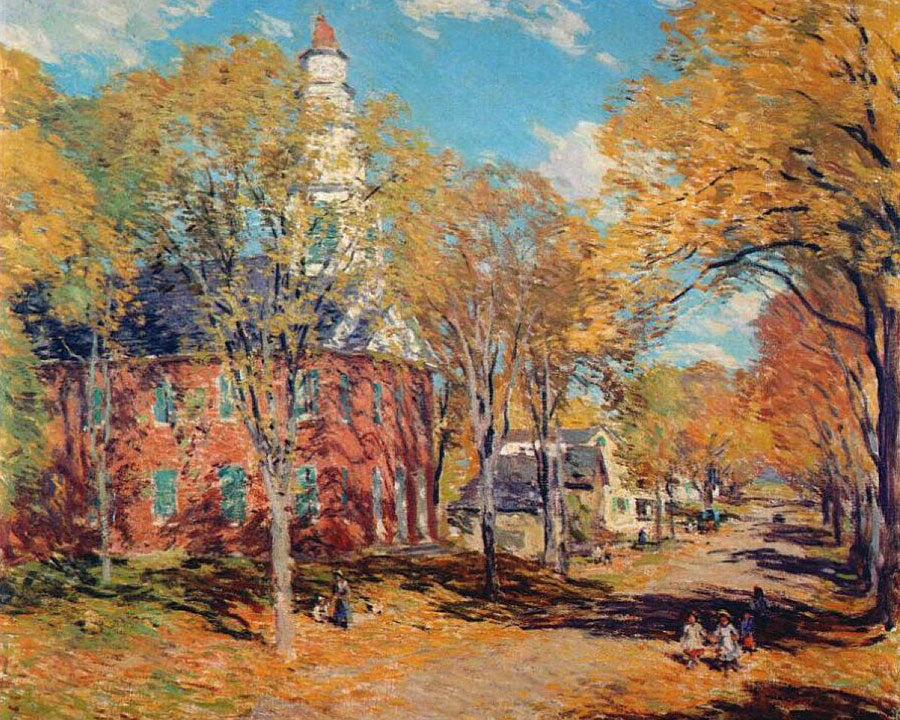 October Morning Deerfield By Charles Marion Russell